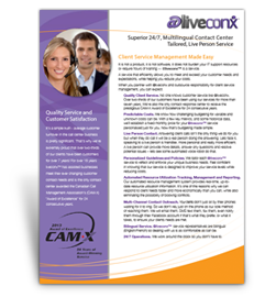 @liveconx Call Centre Fact Sheet