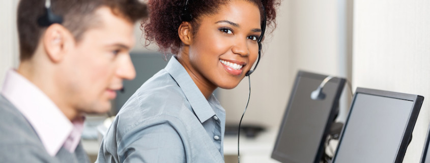 Woman with customer service soft skills